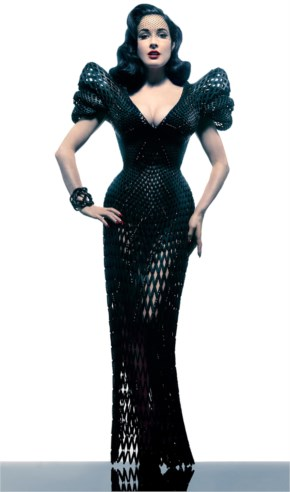 First Dress Made With A 3D Printer Worn By Dita Von Teese