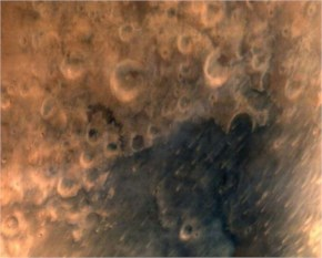 First image taken by Mars Orbiter Mission of Mars' surface