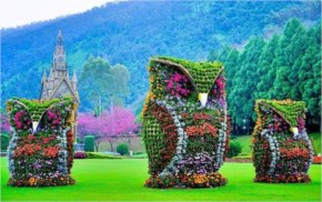 Flower Owl Sculptures Aantou County Taiwan