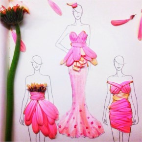 Flower petal dress design