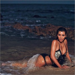 For Kim Kardashian, even nighttime can be sexy-beach-bikini