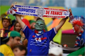 France fans are pictured prior to a Round of 16 football  2014 FIFA World Cup