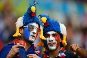 France fans rance and Nigeria at Mane Garrincha National Stadium in Brasilia during the 2014 FIFA World Cup