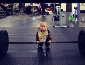 Funniest baby fitness pic