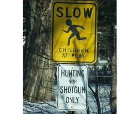 Funniest sign ever seen while crossing road-14