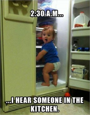 Funny Baby Scene I Hear Someone In The Kitchen Funny Baby ...