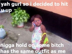 Funny black baby girl pictures with cute phone