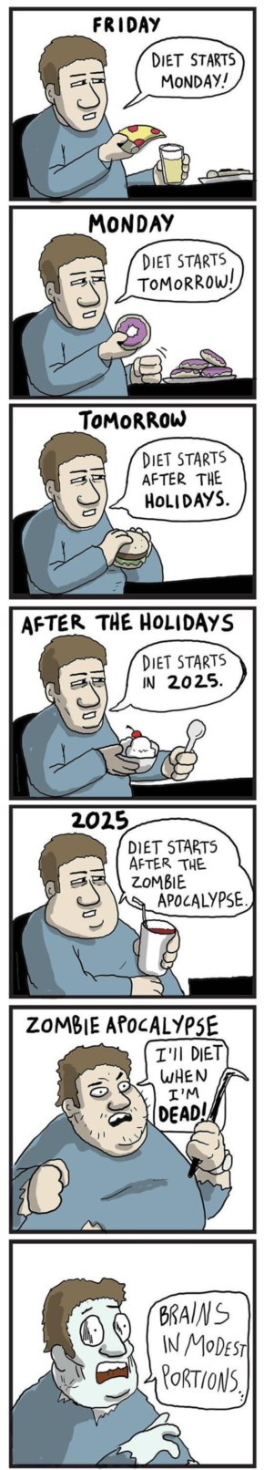 Funny Comic About…There Is Always Time For Diet