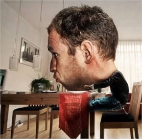 Funny Creative Big Head Photo Manipulation