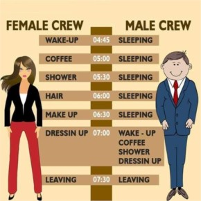Funny Female Crew and Funny Male Crew