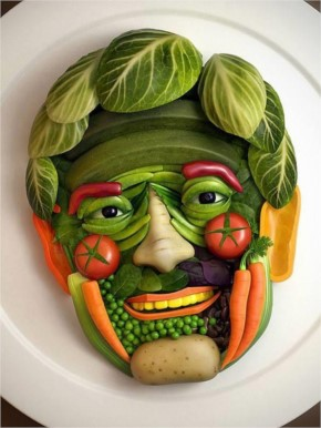 Funny Food Face art