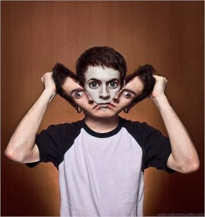 Funny Head open new face Photo manipulation
