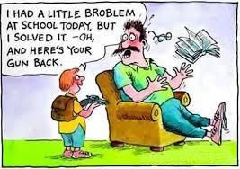 Funny Image Between kid  And Father