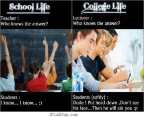 Funny Image School Life And College Life