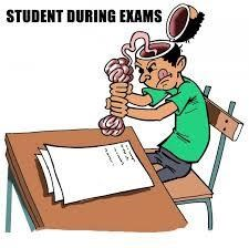 Funny Image Student during Exam