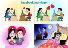 Funny Image Husband And Wife By Facebook