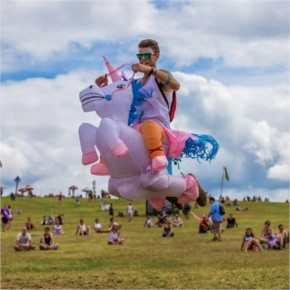 Funny Inflatable Riding Unicorn Halloween