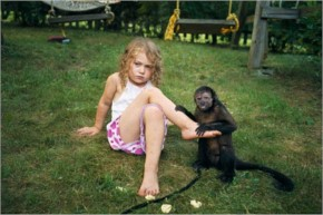 Funny Kids And The Animals Adorable Photo
