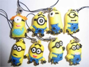 Funny Minions Mobile-phone-chain-Charm-Straps-pendants-Gifts