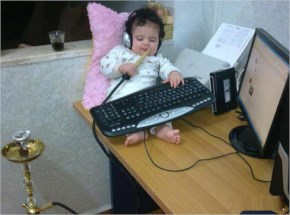Funny Picture Baby Computer User