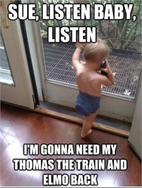 Funny Pictures Baby On The Phone