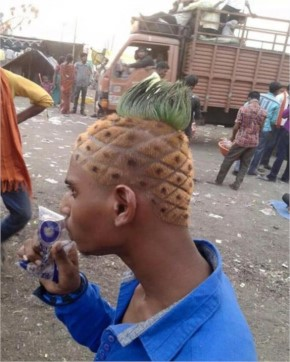 Funny Pineapple Hairstyle