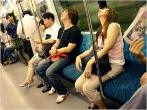 laughspark caught 30 Funny Sleeping People on the Subway