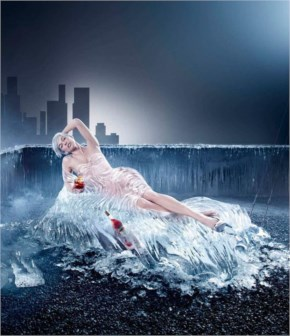 Funny water girl photo manipulation