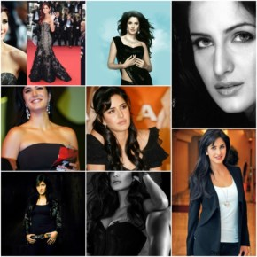 Georgeous and hot Katrina kaif all black dresses collections