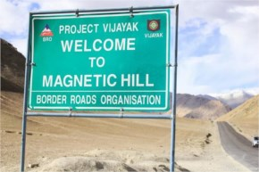 Get pulled uphill by magnetic force - Magnetic Hill, Ladakh-Incredible India