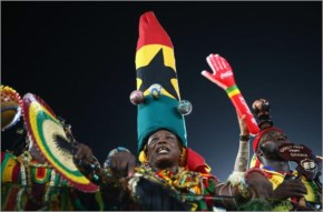 Ghana fans cheer prior to the 2014 FIFA World Cup Brazil