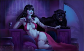 Girl queen of egypt the throne the panther cat