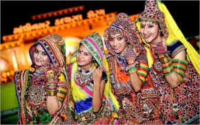 Girls are Ready For Playing Garba