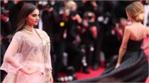 Gorgeous sonam kapoor at red carpet in indian traditional dress