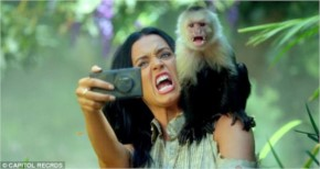 hot  Katy Perry  selfi with monkey from roar video