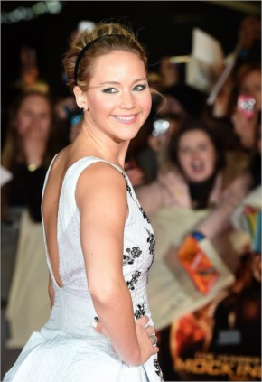 Hot! or Hmm...: Jennifer Lawrence's Mockingjay Part1 Premiere Christian Dior Spring 2015 Embellished Dress