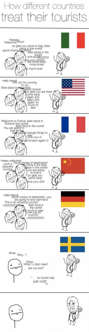 How Different Countries Treat Their Tourists