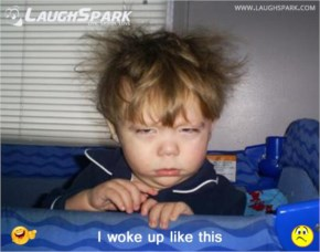 I woke up like this | Funny Cute Baby image