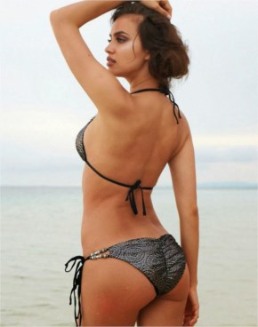 Irina Shayk flaunts skimpy swimwear from the Beach Bunny 2014 Collection