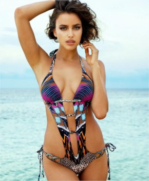 Irina Shayk flaunts skimpy swimwear from the Beach Bunny 2015
