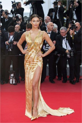 "Irina Shayk style  - ""Sicario"" Premiere at The 68th Annual Cannes Film Festival"