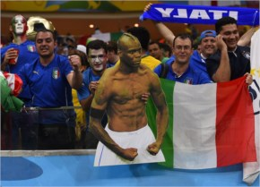 Italy's Super Mario sinks England fans