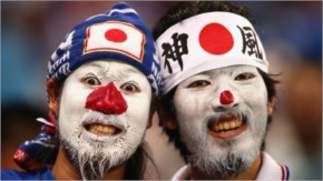 Japan fans look on during the 2014 FIFA World Cup Brazil