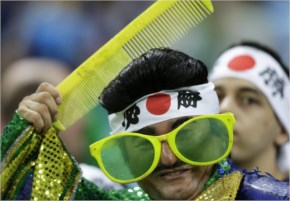 Japanese Football fans may have a reputation for trashing stadiums after losing big matches. But Japan supporters at the World Cup