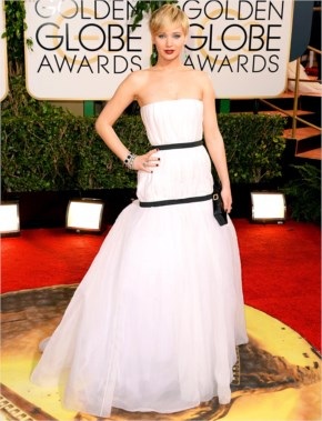 Jennifer Lawrence at the Golden Globes