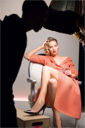 Jennifer Lawrence in Her Dior Lipstick Ad
