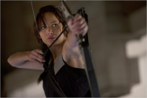 Jennifer Lawrence Jumps Into Action in the hunger games mockingjay part 1