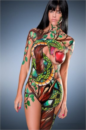 John neyrot body painting swimsuit models
