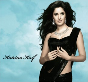 Katrina kaif in black saree looks awesome at a jewellery promotional shoot