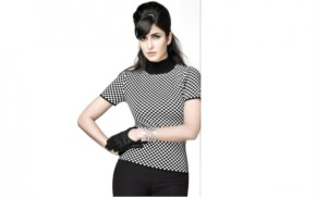 Katrina wears Black-White Top for the Promotion